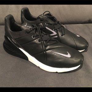 Nike Shoes - Nike Air Max 270 Premium Black Leather Men Size 12